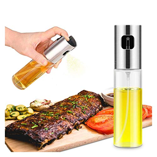 AFTWLKJ Bbq Hornear Aceite de oliva Spray Botella Vinagre Botella Pulverizador Pulverizador Oilero Olla Dispensador de aceite Barbacoa Herramienta de cocción Cocina Bomba de oliva ( Color : 1PC Gold )