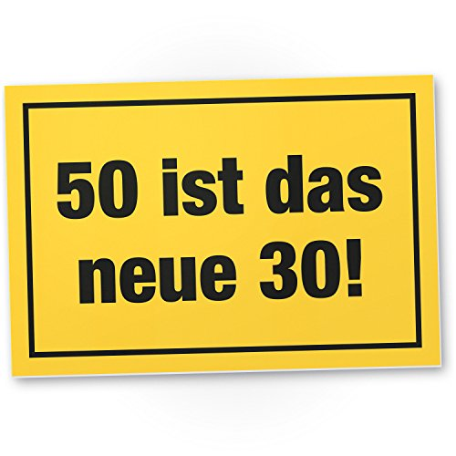 Bedankt! 50 ist Das New 30 plastic bord, cadeau 50 verjaardag, cadeau-idee verjaardagscadeau vijfstigste, verjaardagsdeco/partydeco/feestaccessoires/verjaardagskaart