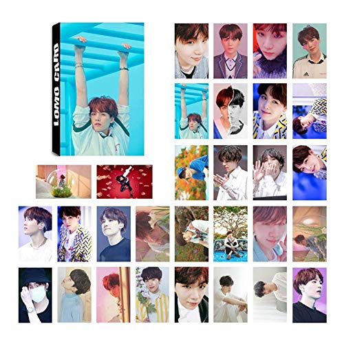 KPOP bangtan boys Bangtan Boys Love Yourself ? Answer Photo Postcard Support Lomo Cards Stickers Set Gift for A.R.M.Y, 30 Pcs (H03)