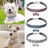 Mallalah Collares para Mascotas Collar para Perros y Gatos Conjunto de Joyas de Cristal Reiki Collar Joyas (Blanco S)