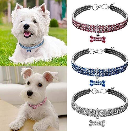 Mallalah Collares para Mascotas Collar para Perros y Gatos Conjunto de Joyas...