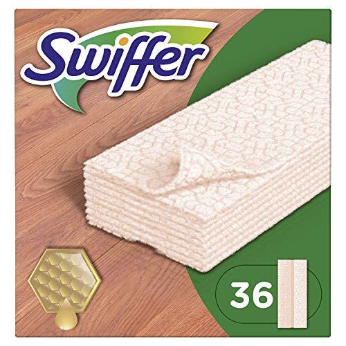 Swiffer toallitas húmedas, contra polvo, para madera y suelos de parqué laminado, 36unidades)