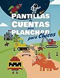 Plantillas de Cuentas para Planchar para Chicos: Libro de plantillas para niños con vehículos,...