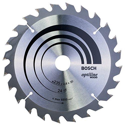 Bosch Lame de Scie Circulaire, 24 Dents, 30mm d'Alésage, 2.8mm Largeur de Coupe, 1.8mm Épaisseur du Corps, 235mm Diamètre