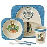 Beatrix Potter A27754 Peter Rabbit Dinner Set, 5-piece