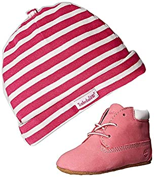 Timberland Baby Girl s Crib Shoes Bootie Pink Soft Bottom 9680R Gift Set  2 Baby