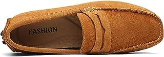 AARDIMI Mocassins en Daim Hommes Penny Loafers Casual Bateau Chaussures de Ville Flats