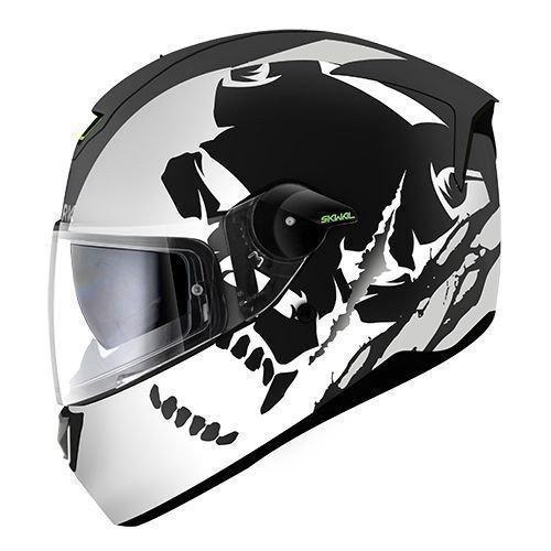 Shark Motorrad-Helm Skwal Instinct, matt, KWS, schwarz/weiß, Größe XS