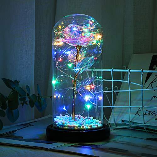 Carolilly - Rosa artificial bajo campana de cristal, diseño de La Bella...