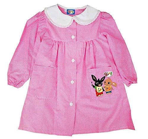 SUN CITY Bing - Grembiule Bing Bambina Bambino da 2 a 6 Anni - 2-Anni - Rosa