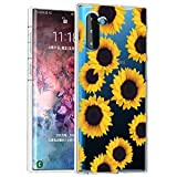 Zoeirc Galaxy Note 10 Case/Samsung Note 10 5G Case Clear Case for Girls Women, Soft TPU Shockproof Protective Transparent Phone Case Cover for Samsung Galaxy Note 10 5G (Sunflower)