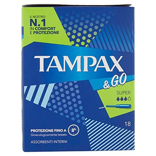 Tampax &Go Super Tampones, 18 unidades
