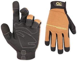 CLC Custom Leathercraft 124L Workright Flex Grip Work Gloves, Shrink Resistant, Improved..