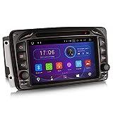 Erisin Android 9.0 7' Autoradio DVD für Mercedes Benz C-Klasss W203 S203 CLK C209 W209 Viano & Vito W639 G-Klasse W463 unterstützt Bluetooth WiFi SWC A2DP RDS FM/AM DAB+DVB-T2 TPMS OBD...