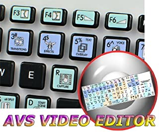 AVS Video Editor Galaxy Series Keyboard Labels 12x12 Size