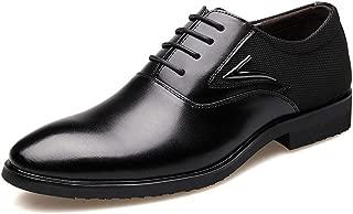 Giles Jones Men's Lace up Oxfords Shoes Classic Round Cap Toe Formal Leather Dress Shoes