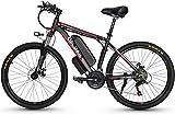 Bicicleta electrica, Bicicleta eléctrica eléctrica de 350W para adultos, bicicleta eléctrica de 26 'con batería de ión litio removible 10AH / 15AAh, equipo profesional de 27 veloz batería de litio cru