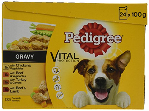 Pedigree Vital Protection Hundenassfutter im Beutel – Hundefutter in Gelee mit Huhn & Lamm – 52 Beutel (13 x 4 x 100g Großpackung)