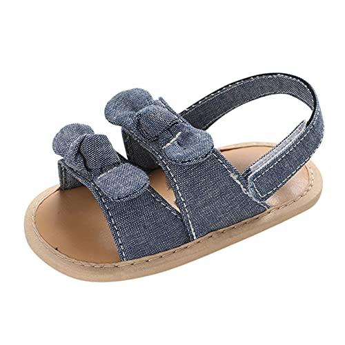 JDGY Sandalias para niña y bebé, para aprender a andar, verano, sandalias para niños, con suelo suave, cierre de velcro, antideslizantes, sandalias de trekking, marine, 21
