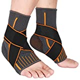 2 Packs Breathable Ankle Brace, Ankle Support Sleeve with Compression Ankle Wrap