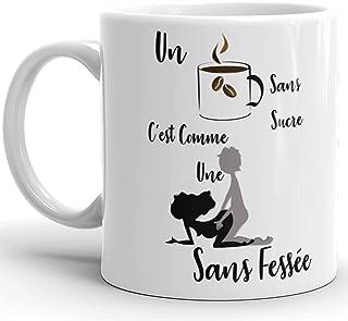 Mug humour Amour café sans sucre levrette sans fessée Tasse drôle homme femme et coquine idée cadeau Noël anniversaire fêt...