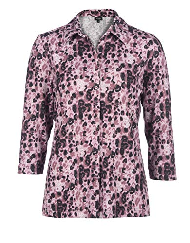 Bexleys Woman by Adler Mode Damen Anschmiegsame Bluse rosé 50