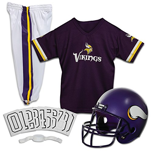 Franklin Sports NFL Minnesota Vikings Deluxe Youth Uniform Set, Medium