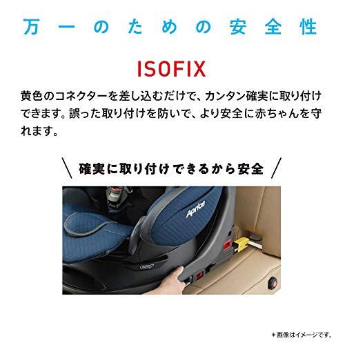 Aprica(アップリカ)ISOFIX固定回転式ISOFIXベッド型チャイルドシートフラディアグロウ360°セーフティープレミアムABネイビーミッドナイト0か月~(1年保証)2107707