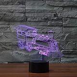 Train Vision Locomotive Diapositive lumière Acrylique Transparente...