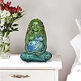 母なる地球ガイアアート置物、千年紀のガイア緑の地球母なる地球の女神像樹脂装飾品、家族および屋外の庭の装飾像ギフト装飾品