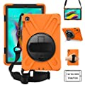 ZenRich Galaxy Tab S5e Rugged Case with 360 Rotatable Stand Hand Strap and Shoulder Belt for Samsung Galaxy Tab S5e 10.5 inch 2019 Tablet-Orange