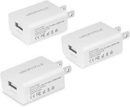 Wall Charger, UROPHYLLA USB Wall Charger, 12W 2.4A Mini Portable USB Wall Charger for iOS X 8 7 6S/Plus 5S/5, Android Galaxy S8 7 Edge, LG, HTC, Huawei, Moto, Kindle and More - White[3 Pack]