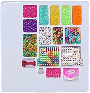 Liberty Imports ABC Beads & Charms Friendship Bracelet Jewelry Making Kit - Over 1000 Beads