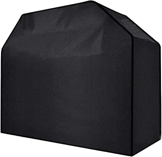 Waterproof Heavy Duty Gas BBQ Grill Cover, Weather-Resistant Polyester 170x61x117cm Black