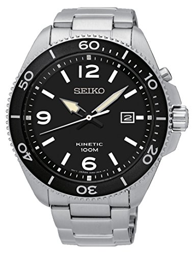 Seiko herenhorloge analoog kwarts met roestvrijstalen armband - SKA747P1