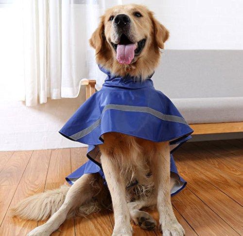 Kismaple Regolabile Riflettente Impermeabile Giacca per Cani, Leggero Impermeabile Cappotto per Cani di Piccole Medio Vestiti Impermeabili