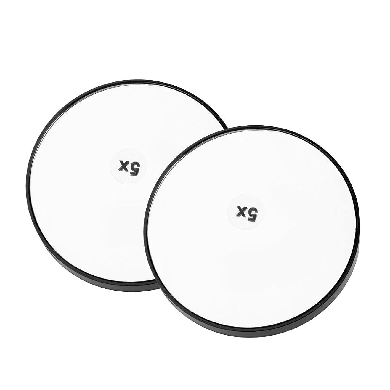 雷雨数学的なれるFenteer 2個 メイクアップミラー サクションミラー 化粧ミラー 拡大鏡 サクションカップ 吸引カップ 便利 3タイプ選べる  - 5倍拡大