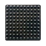 100 cuscinetti autoadesivi per paraurti, a forma di semicerchio, per armadi, piccoli elettrodomestici, cornici, mobili, cassetti, armadi (nero)