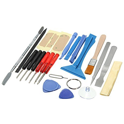 OriGlam 22 in 1 Professional Safe Opening Pry Tool Repair Kit, Mobile Phone Repair Screwdrivers Sucker Hand Tools Kit with Non-Abrasive Nylon Spudgers for iPhone, Smart Cell Phone, Laptop