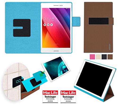 reboon Hülle für Asus ZenPad S 8.0 Z580CA 16GB Tasche Cover Hülle Bumper | in Braun | Testsieger