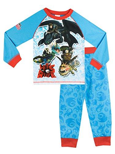 Dragons - Pijama para Niños - Cómo Entrenar a tu dragón - 10 a 11 Años