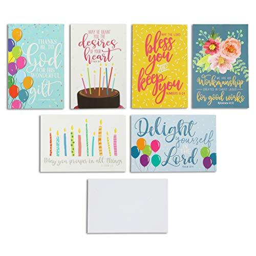 Christliche Geburtstagskarten mit Umschlägen, 10,2 x 15,2 cm, 48 Stück