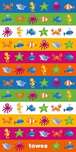Towee schnelltrocknendes Handtuch für Kinder, Kinder mikrofaser reisehandtuch mit Motiv (Swimkit)