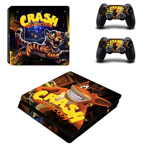 TSWEET Crash Bandicoot N Sane Trilogy Ps4 Slim Skin Sticker Decal For Ps4 Playstation 4 Slim Console And 2 Controllers Skins