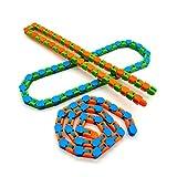 Wacky Tracks Snap and Click Fidget Toy, Color Aleatorio Divertido Fidget Chain Anti Stress Bike Chain Juguete para Niños Adult Bike Chain Fidget Pulsera Puzzle Juguetes Educativos