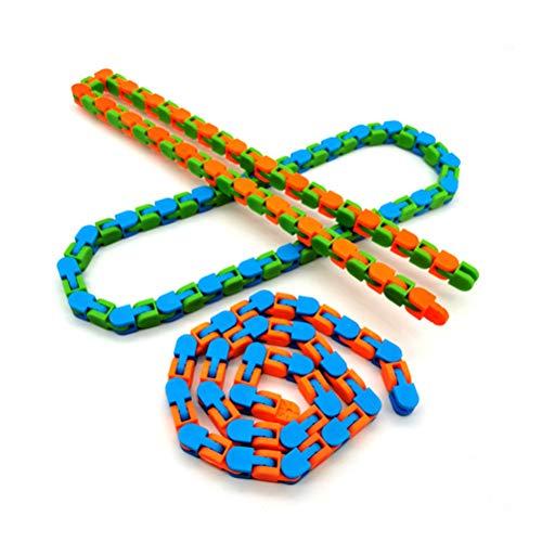 BST&BAO Anti Stress Spielzeug, Lustige Zappeln Kette Anti Stress Spielzeug Für Kinder Erwachsene Fahrradkette Zappeln Spinner Armband Schlange Puzzle Spielzeug