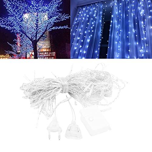 Cadena de luz decorativa Cadena de luz repelente al agua de 4 metros, para exterior, para decoración navideña, para decoración del hogar(white, pink)