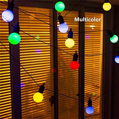 ZZSSC LED Globo Party Christmas String Light 6m / 15m 20 / 50leds Conector USB Bombilla Vintage Decorativa Guirnalda de Patio Trasero(Multicolor (6M))