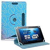 360°Rotating Diamond PU Leather Stand Case Cover Fits All