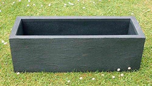 Unbekannt Pflanzkasten Kubus anthrazit, ca. 80x30x27 cm, Füllvolumen 32 l